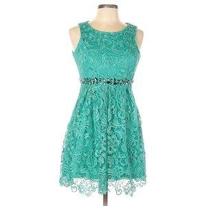 Filly Flair Crochet Lace Gem Aline Cocktail Dress
